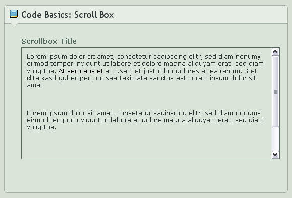 Scroll Box For Pictures And Text 80