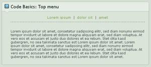 .:Code Basics: Top Menu by GinkgoWerkstatt