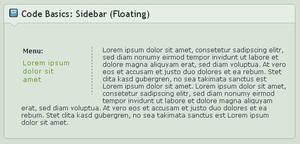 Code Basics: Sidebar- Floating by GinkgoWerkstatt