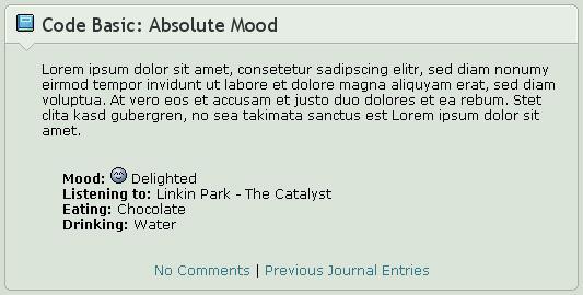Code Basics: Absolute Mood by ginkgografix