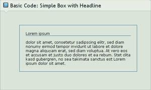 .:Code Basics: Simple Box by GinkgoWerkstatt