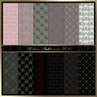 Retro Patterns Set by Melissa-light