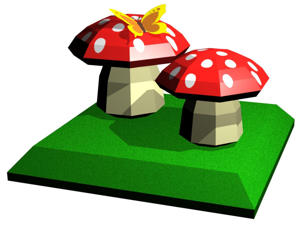 Mushrooms_Paper_Model_Children_by_PixelOz.jpg
