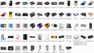 Photo Game Console Icons by PixelOz