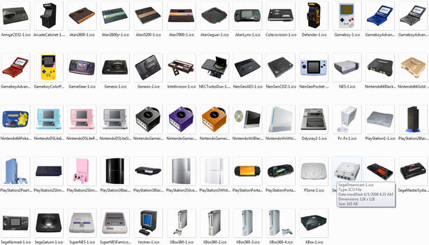 Photo Game Console Icons
