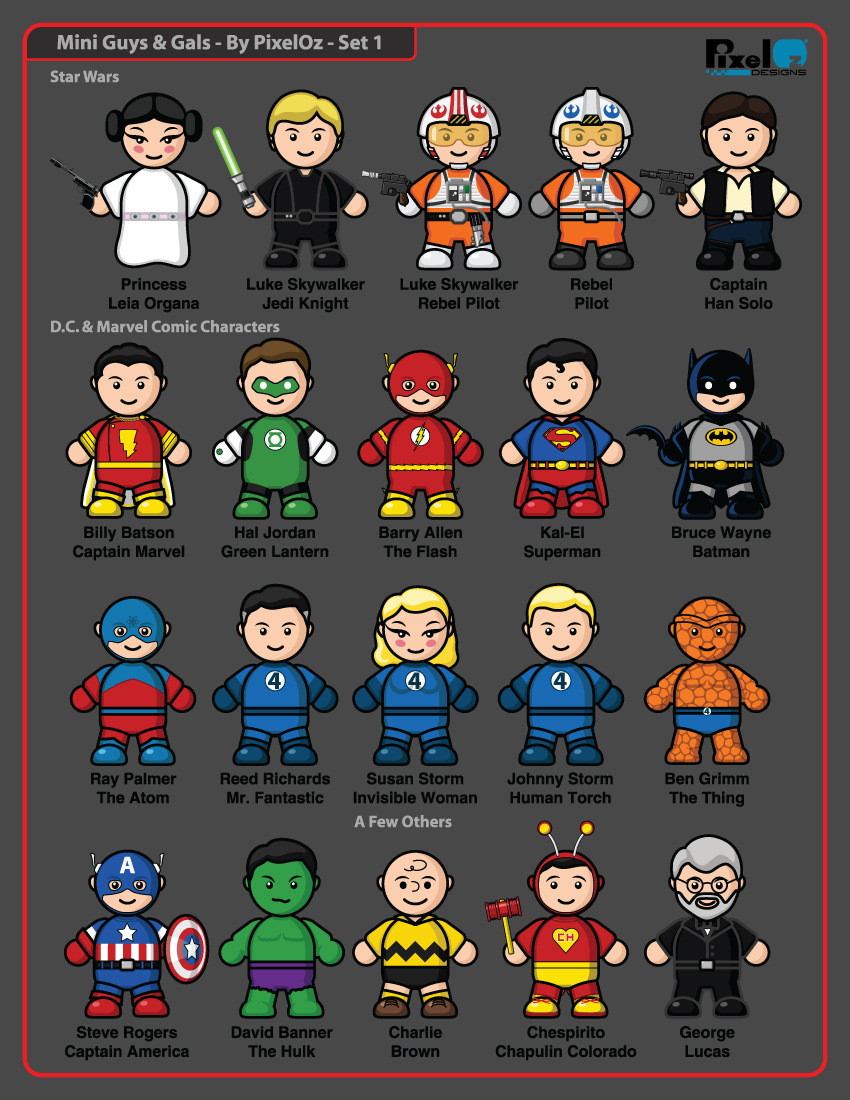 Mini-Guys And Gals Icons Set 1 by PixelOz