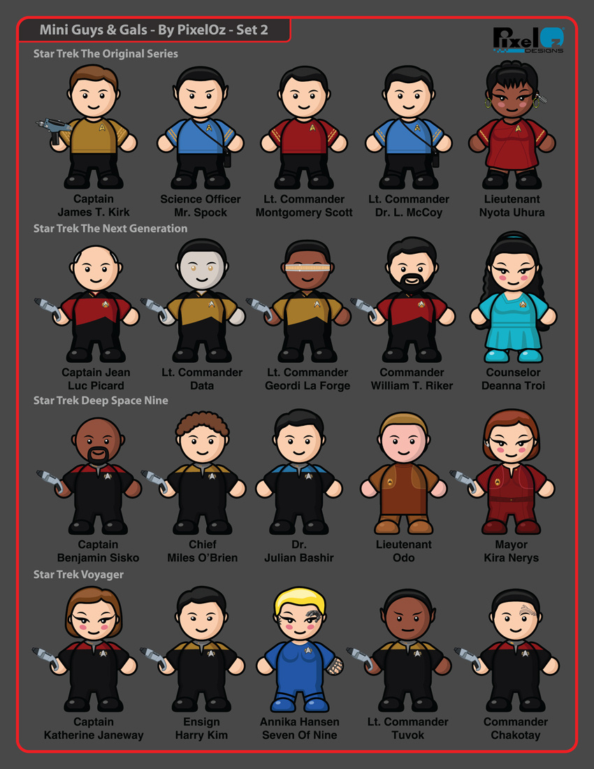 Mini-Guys And Gals Icons Set 2 by PixelOz