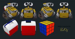 Wall-E 3D Icons Set Version 1-0