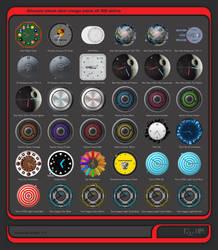 Alwact Clock Skin Mega Pack of 36 Skins Volume 2 by PixelOz