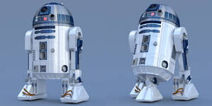 R2-D2 Free 3D Blender Model Conversion Ver 1-0