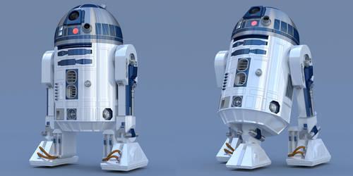 R2-D2 Free 3D Blender Model Conversion Ver 1-0 by PixelOz