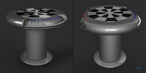 Star Wars Dejarik Holochess Table Blender 3D Model