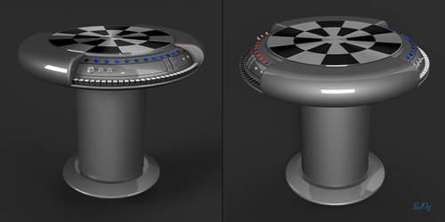 Star Wars Dejarik Holochess Table Blender 3D Model by PixelOz