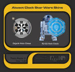 Alwact Clock Star Wars Skins Twin Pack