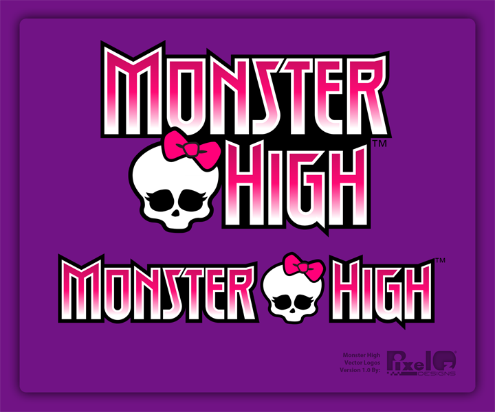 Monster High Free Vector Logo by PixelOz