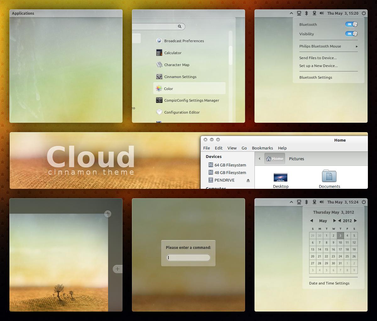 Cloud - Cinnamon Theme