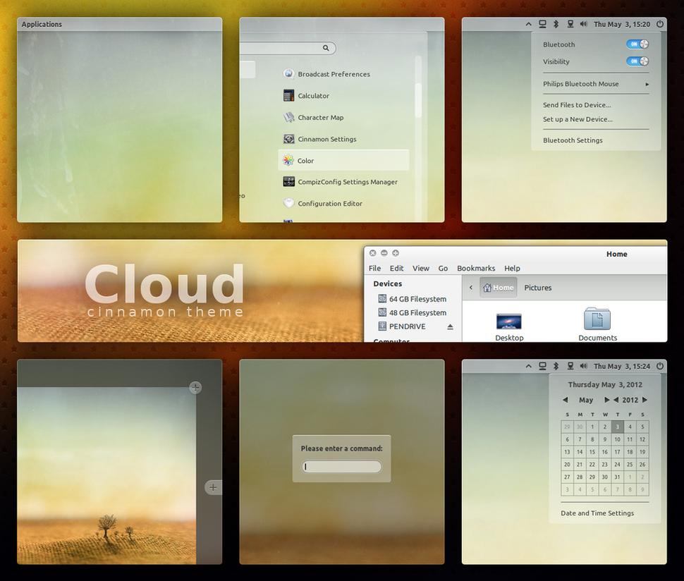 Cloud - Cinnamon Theme by DzaDze