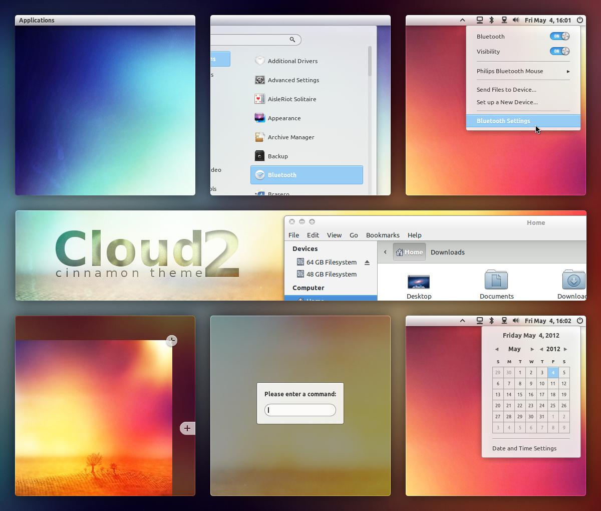 Cloud 2 - Cinnamon Theme by DzaDze
