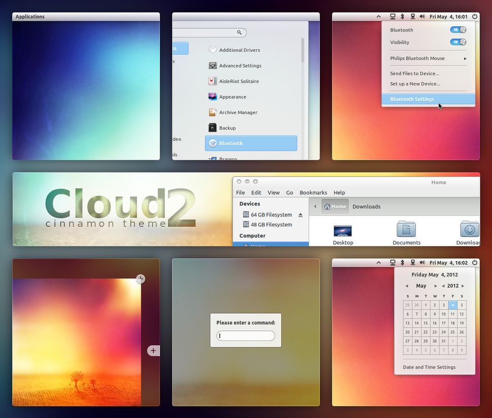 Cloud 2 - Cinnamon Theme by DzaDze