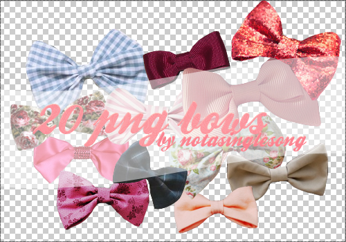 20 PNG Bows by notasinglesong