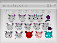 Emoticons 01 by helca-k