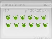 Emoticons 06 by helca-k