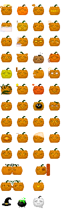 Emoticons 15 - Halloween by helca-k