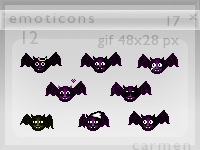 Halloween little monsters emoticon pack by helca-k