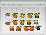 Emoticons 18 - oranges by helca-k