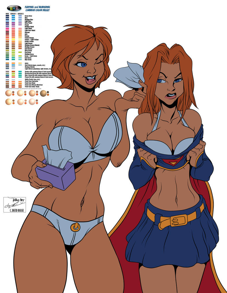 Powergirl Supergirl FLATS by frostdusk