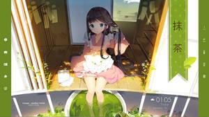 Green Tea Anime girl Rainmeter