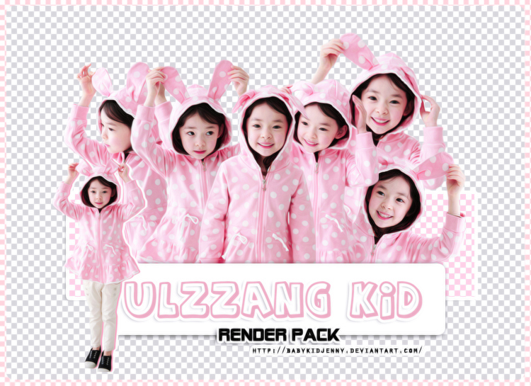 [RENDER-PACK#013] Ulzzang Kid by babykidjenny