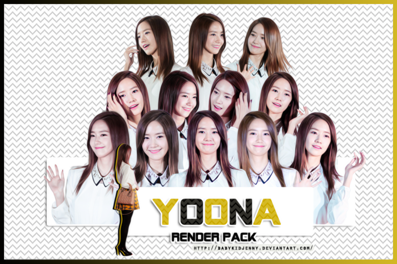[RENDER-PACK#033] Yoona (SNSD) by babykidjenny