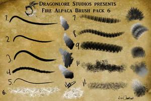 P2U: Fire Alpaca Brush pack 6 (may) by DragonLoreStudios