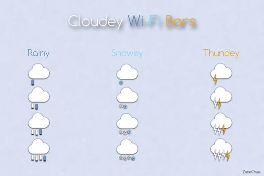 Cloudey Wi-Fi Bars