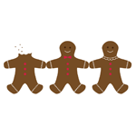 Gingerbread Cookie Vectors by ko--design