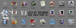 Sci-Fi Icons for Mac and PC