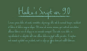 Haiku's Script - Unicode Font - updated ver 8.0 by Poemhaiku