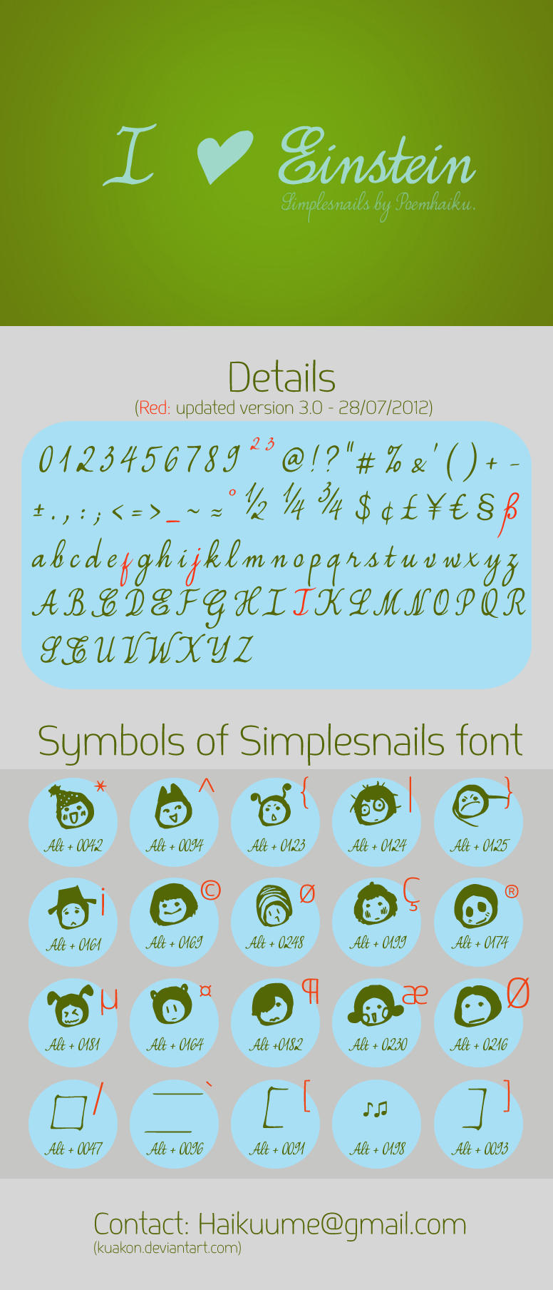 Simplesnails Font update ver 2.0 by Poemhaiku