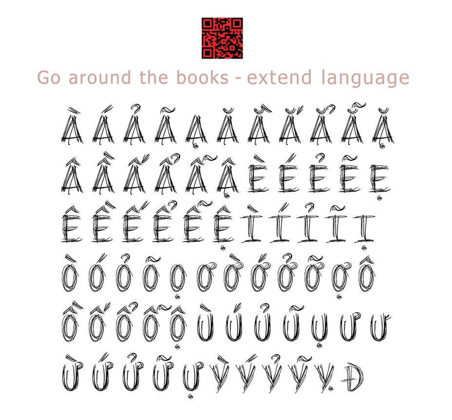 Go around the Books Font 2014 by Poemhaiku
