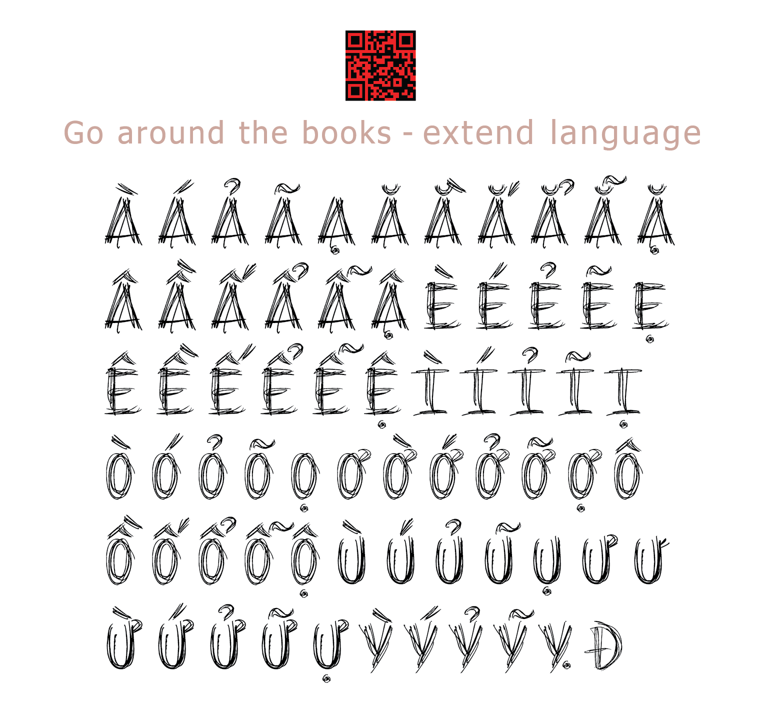 Go around the Books Font 2014 by Poemhaiku