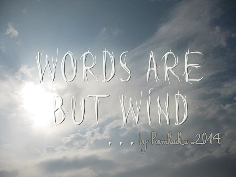 Words are but wind Font