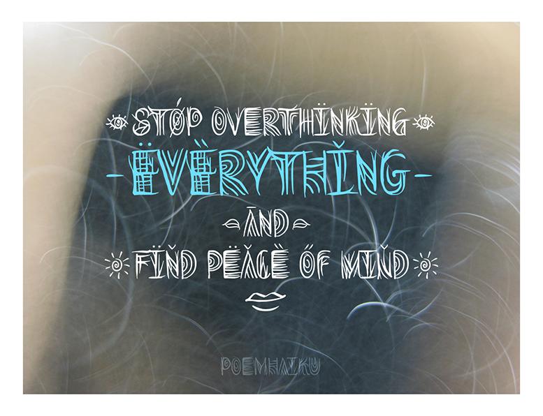 Overthink | Decorative font by Poemhaiku