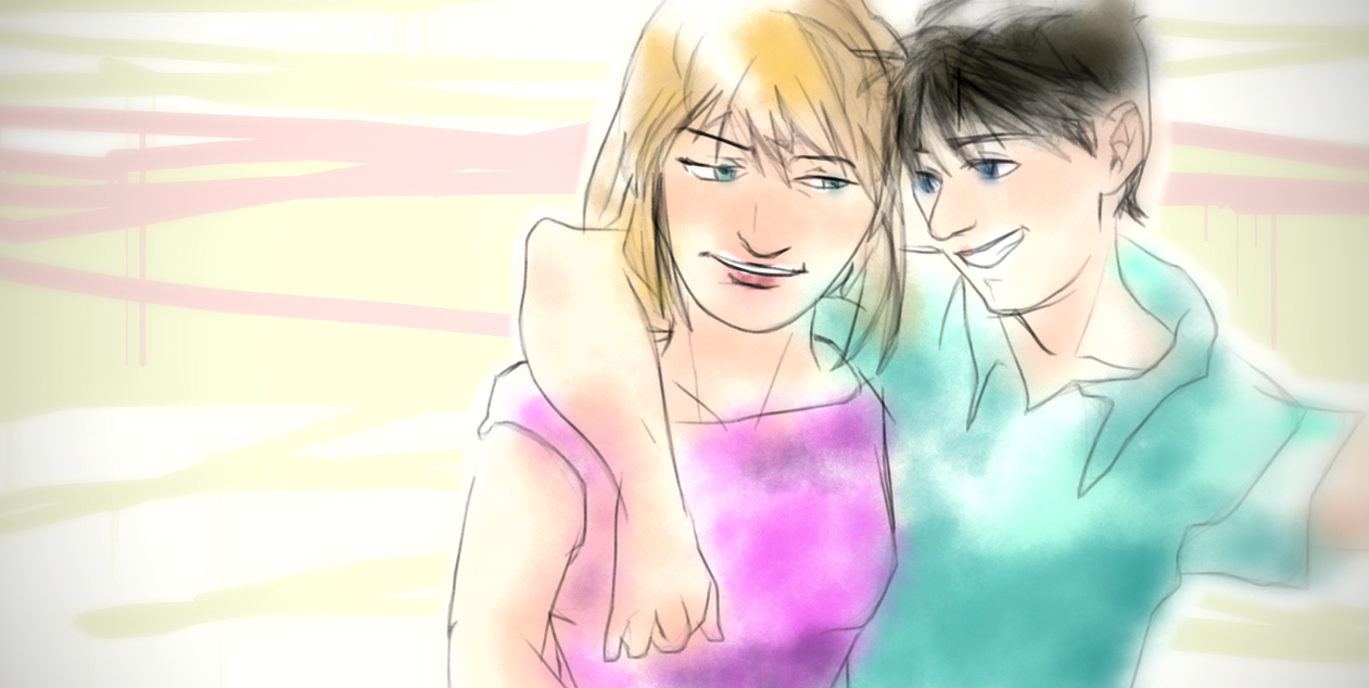 Shinichi and Shiho Doodle by DagronRat