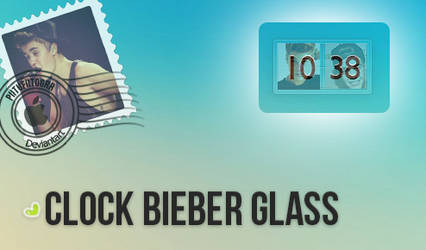 Skin Rainmeter - Clock Bieber Glass By PiitufiitoG