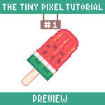 The tiny pixel tutorial (1) watermelon popsicle