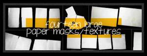14 large paper masks+textures