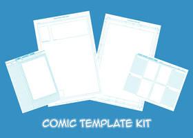 Comic Creation Blue-line Templates by Hoelho