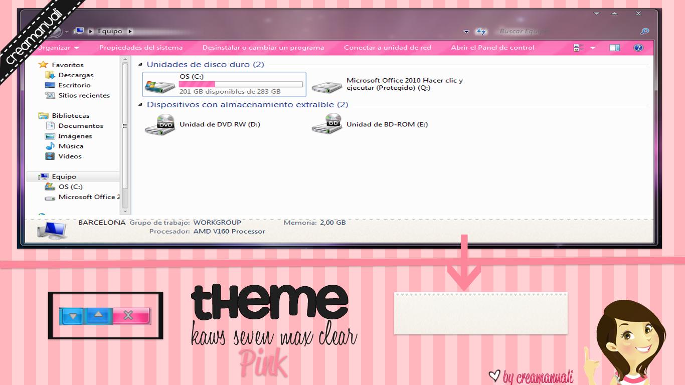 theme aero pink by creamanuali