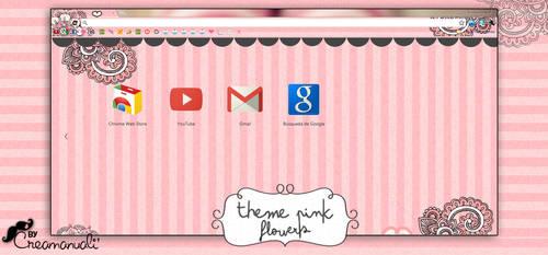 google chrome : Theme pink flower by creamanuali